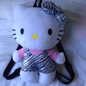 "Hello Kitty 14"" Plush BackPack. EUC."